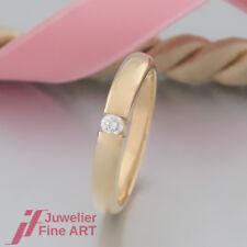 RING - SOLITÄR-RING mit 1 Brillant (Diamant) ca. 0,07ct - 18K/750 Gelbgold