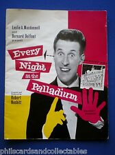 Bruce Forsyth, Morecambe & Wise souvenir programme London Palladium  1962
