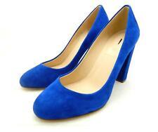 JCREW Etta Suede Pumps $238 7.5 platform heels byzantine blue shoes
