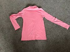 Girls pink long sleeve polo roll neck 100% cotton top by LARedoute  aged 12a siz