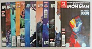 Superior Iron Man #1-12 VF/NM Complete Set 1st AI Stark Bendis Maleev Marvel Key