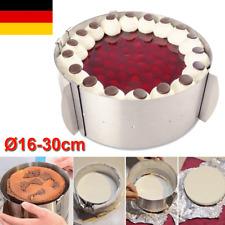 Tortenring Ø16-30cm Edelstahl Verstellbar Backform Backrahmen Kuchen Kuchenring