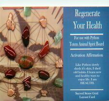 "REGENERATE YOUR HEALTH Grid Card 4x6"" Heavy Cardstock For Use with Crystals"