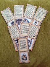 Alice In Wonder Land Book Marks Pack Of 8 Vintage Style-Tea Party-Wedding-Favour
