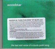 (DE911) Woodstar, The Last Sad Verse Of A Dumb Punk Song - 2002 DJ CD