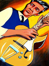 TAL FARLOW PRINT poster jazz gibson archtop the swinging guitar cd autumn leaves
