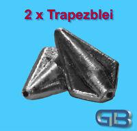 2 x Trapezblei 20g, 40g, 60g, 80g Inliner Karpfenblei Blei Grundblei Angelblei