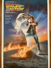 Back To The Future Movie Poster Part 1 HAS NSS MARK IN LOWER RIGHT CORNER