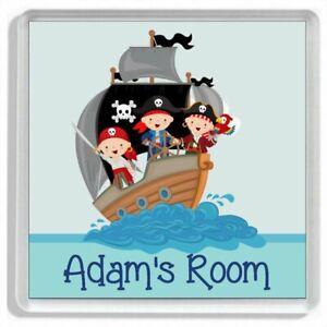 Personalised JOLLY PIRATE SHIP Childrens Bedroom Door Sign / Door Plaque