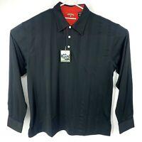 New Skins Game Tech Dry Ply Bamboo Charcoal Performance Black Shirt XL Black Red