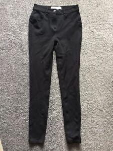 Next Sculpt Skinny Ponte Black Trousers Size 10 Long