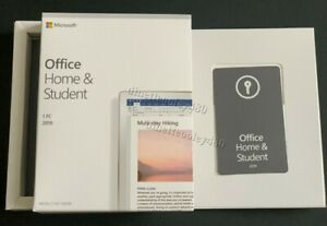Microsoft Office Home and Student 2019 For 1PC Windows [New Sealed Box]