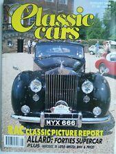 CLASSIC CARS, AUG 89 feat ALLARD, TR3A, TR7, '49 LOTUS, ELFIN, BMW 635CSi +MORE