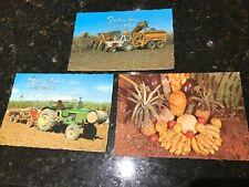 Bundaberg,Old-Postcards-1970's-No W208A-W1005A-15-Sugar Cane-Tropical Fruit x 3