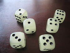6pcs set13mm Glow in the dark acrylic dice craps Party bar Game blue rare  P017s