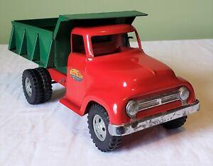 Early Tonka Toys Ford Round Fender Cab DUMP TRUCK 50's V RARE NICE 100% ORIGINAL