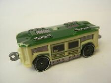 "Hot Wheels Cream And Green Turbo Trolly, 3"", Good Condition (012-30)"