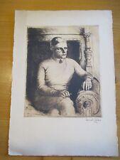 Erich Glas Berlin Haifa Bauhaus Weimar Radierung Judaika Jude Jew Selbstportrait