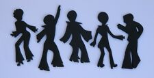5 edible DISCO DANCING PARTY PEOPLE RETRO cake topper CUPCAKE DECORATIONS 70's