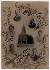 1904 CHRISTIAN ENDEAVOR Real Photo FIRST BAPTIST CHURCH YPSCE Young People