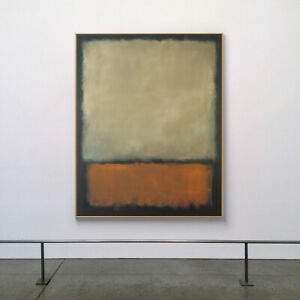 LL1106 Canvas Hand-painted abstract oil painting Mark Rothko color art Unframed