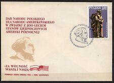 POLAND 1979 FDC SC#2357 Gen. K. PULASKI BUFFALO