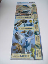 "Scrapbooking Stickers CraftsPaper House 13"" Aquarium Sea Life Dolphin Shark Fish"