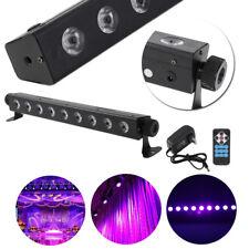 New 9LED X 3W UV LED Bar Black Light Wall Stage Lighting DJ Disco Party Purple
