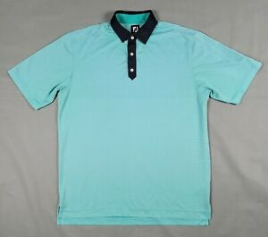 XL Footjoy Blue Mens Short Sleeve Polo Shirt