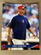 Terry Francona signed 8x10 photo, COA. Will pass JSA. Indians