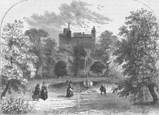 THROGMORTON STREET. Drapers' Hall garden. London c1880 old antique print