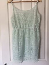 Lovely H&M Mint Green Strappy Lace Wedding Party Dress Size S UK 8 Look