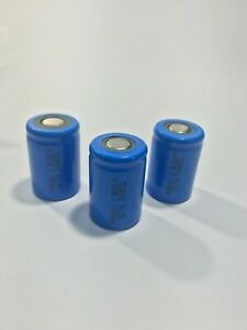 3 - Tenergy 4/5 SubC 1300mAh Capacity NiCd Rechargeable Battery Cell Flat Top