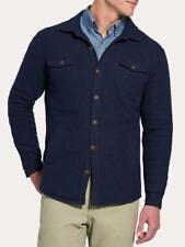 Men's Peter Millar Mountainside Shirt Jacket Textured Knit Navy Blue Size Large