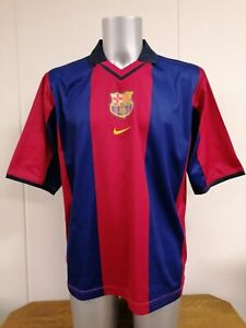 Vintage Barcelona 2000 2001 basic home shirt Nike soccer jersey size L Barca