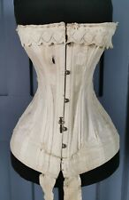 Victorian Antique 1880s / 1890s Corset With Embroidery