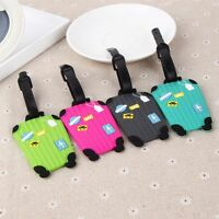 Mini Cartoon Travel Silicone Luggage Baggage Label Tag Name Address Tag Suitcase