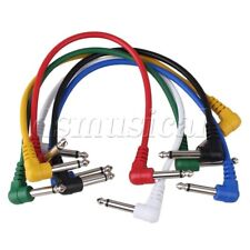 6 x Guitar Patch Cable Effects Pedal Cords Amplifier Cord