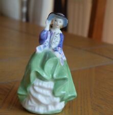ROYAL DOULTON MINIATURE FIGURINE - TOP O THE HILL HN2126 - GREEN DRESS