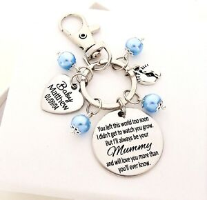 Mummy of an angel Personalised Keyring loss of baby child infant loss angel gift