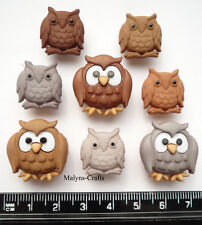 OWLS Craft Buttons 1ST CLASS POST Themed Pet Bird Forest Nature Tree Barn Wild
