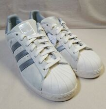 Adidas Super Star Gray Suede Low Top Lace Up Sneakers Shoes Men's 12.5