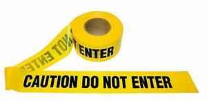 CAUTION DO NOT ENTER Tape - 8 rolls! -  3in x 1000ft x 2mil Yellow/Black - 8 ...