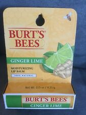Burt'S Bees Ginger Lime Lip Balm 100% Natural - Brand New In Package