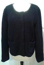 GAP NEW NWT zip up Wool Sweater Jacket Dark Navy Blue Office Work Plus Size 16