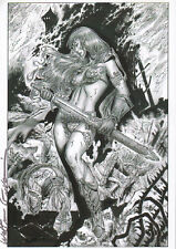 ** SIGNED PRINT** RED SONJA COVER ON GLOSSY PAPER A4 - BY WALTER GEOVANI – WG