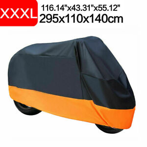 XXXL Orange Motorcycle Cover For Harley Davidson Road Glide King Ultra Limited A