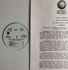 XTC -Skylarking Interview With Andy Partridge- Rare USA Promo LP (Vinyl Record)