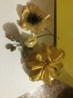 Vintage Millinery Flowers three, hats! unusual, stamens