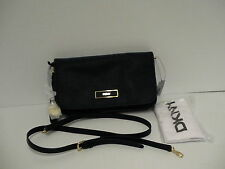 DKNY Donna Karan saffiano leather cross body bag ink color retail $225